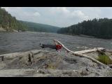 Тренировка в тайге, сибирь, река Кан