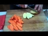 Печеный стейк из палтуса с картофелем и морковкой в мешочке с медом (12.08.2013)