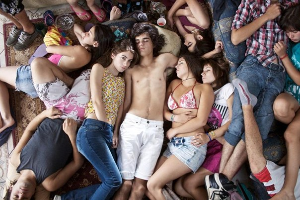 Nude teens in group