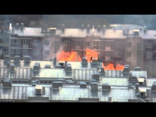 Пожар в м-не Луговое Иркутск 20.05.2013