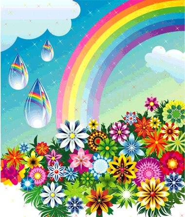 если в глазах радуга