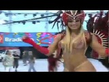 Juju Salimeni Encarna Rainha Do Cabaré Com Fantasia Vermelha E Preta Musa Carnaval 2012.wmv