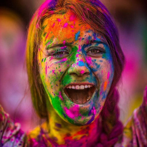 Фестиваль красок Holi Festival of Colors.