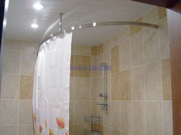 Как установить карниз карниз для штор в ванной. | Здорово живем!