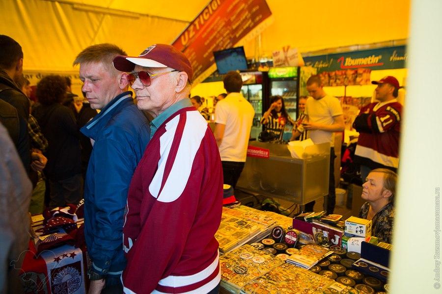 латвийские болельщики в Риге хоккей