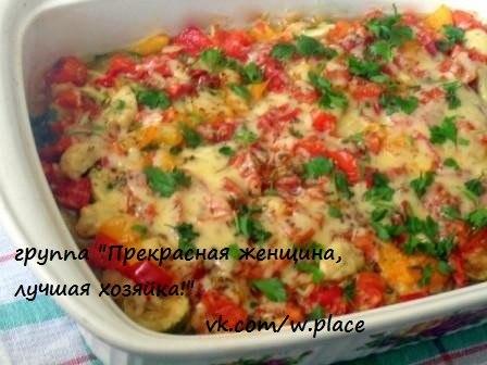 Запеканка овощная с фаршем в духовке