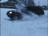 Hyundai tucson, туссан зимой по сугробам