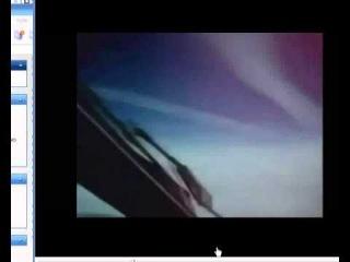 Съемка распыления химтрейлов с борта грузового самолета