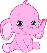 розовый слон фото