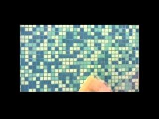 Очистка мозаики от эпоксидной затирки Litochrom Starlike