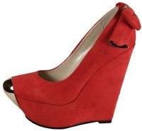 Красные Туфли На Танкетке