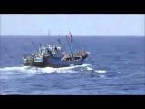 Столкновение двух судов, время 2 минуты 20 секунд