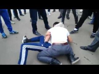 Драка 2 горцев таджики киргизы башкиры fight