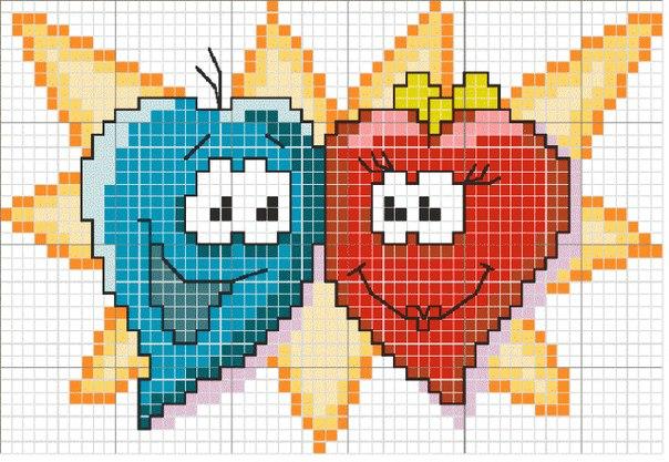 Схема : Сердечки