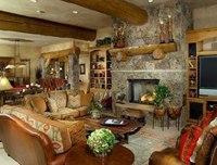 Колористическое оформление дома в стиле шале выдерживается, как правило, в натуральных оттенках дерева и камня...
