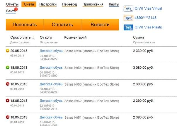 Обмен visa на яндекс киви