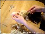 Прическа для текстильной куклы.avi
