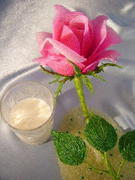 Розы из бисера Александра