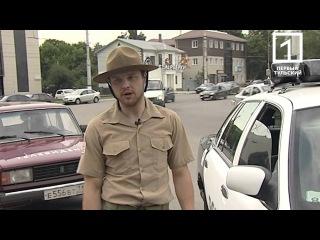 Блондинка Хочет Знать - Американская полицейская машина на тульских улицах
