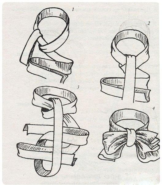 Для завязывания подойдут шарфы