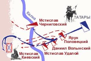 карта битва на реке Калке 31 мая 1223 года