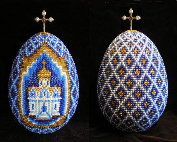 Плетение пасхального яйца из бисера мастер класс видео