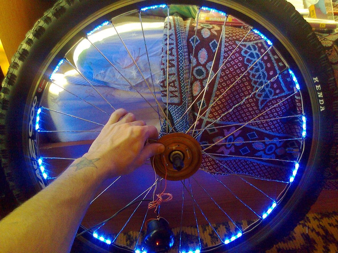 Светодиодная подсветка своими руками велосипед