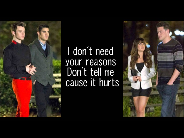 GLEE-Don't Speak with lyrics