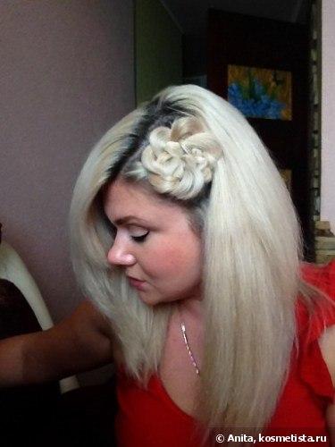 Элегантный цветок из волос
