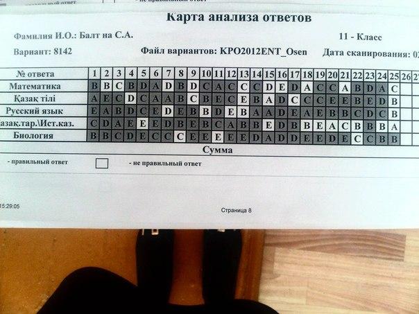 ответы на тесты по ент 2011 года