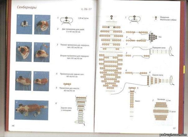 Сенбернар из бисера, схема