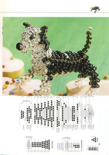Собака из бисера, схема