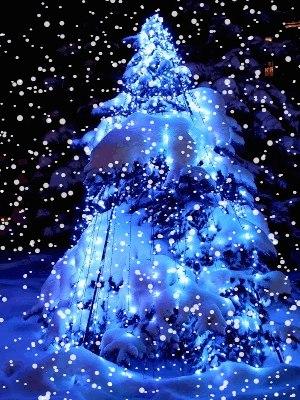 Гифка елочка в снегу, прикольные