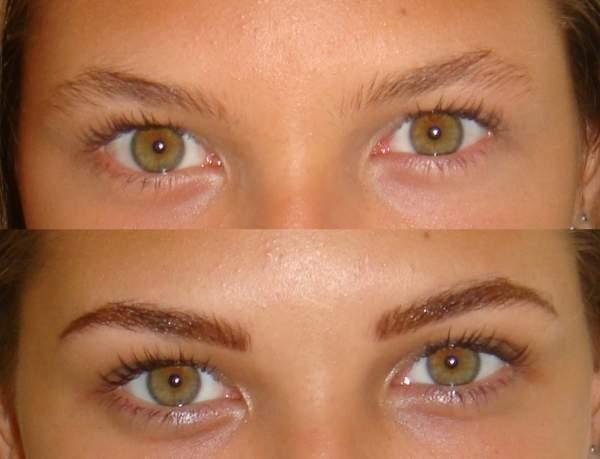 Перманентный макияж бровей 3d