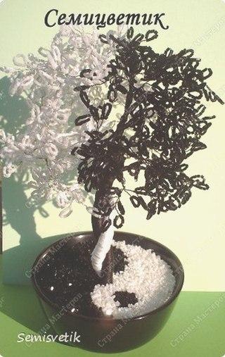 Дерево из бисера Инь и Янь Мастер-класс от mari-m26.  Обсуждение на.
