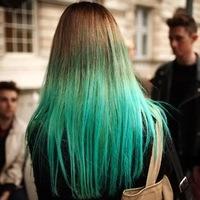 В какой цвет можно покрасит кончики волос брюнетке