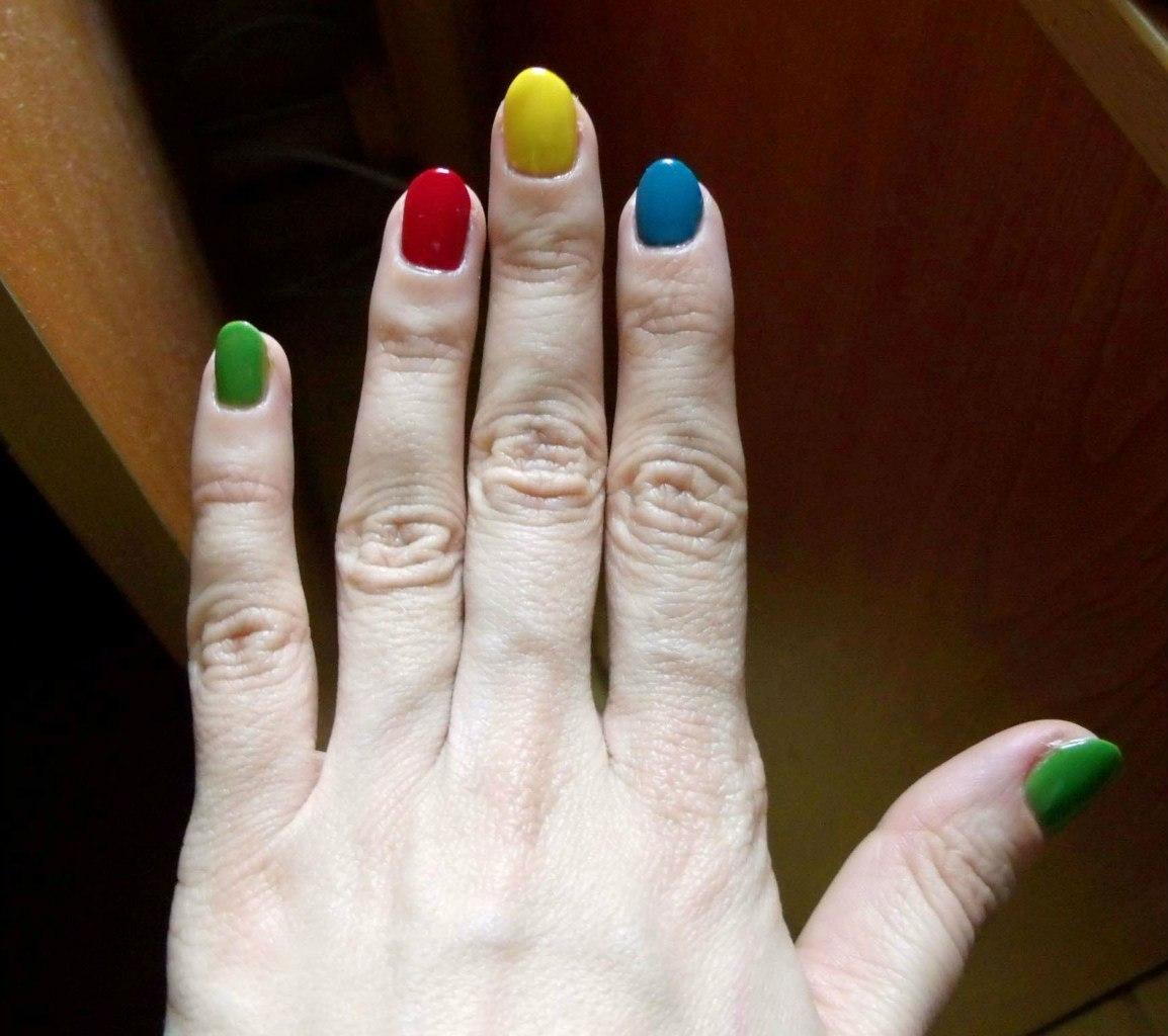 Маникюр на полных пальцах фото