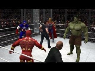WWE 13 | Железный Человек против Халк против Тора против Cpt Америки против Hawkeye против Ника Фьюри