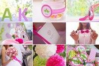 ярко розовый, ярко розовая свадьба, тренд 2012, розовая свадьба.