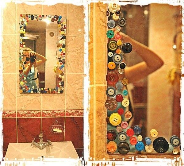 Зеркало оформление своими руками фото