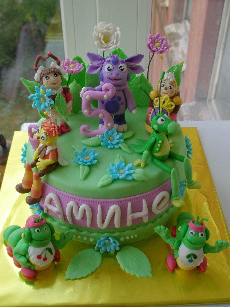 Фото торта формой лунтика
