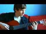 Парень играет на гитаре 32 песни за 8 минут
