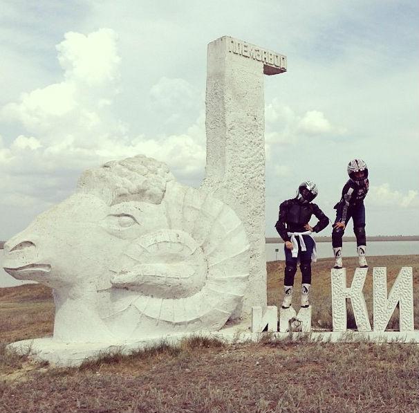 Мотоангелы в Калмыкии