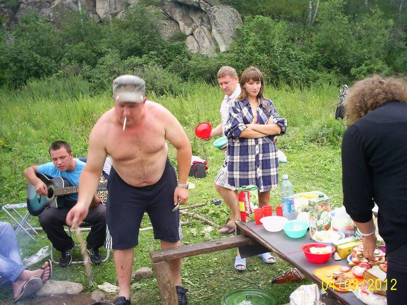 Суп-каша приготовленный на костре