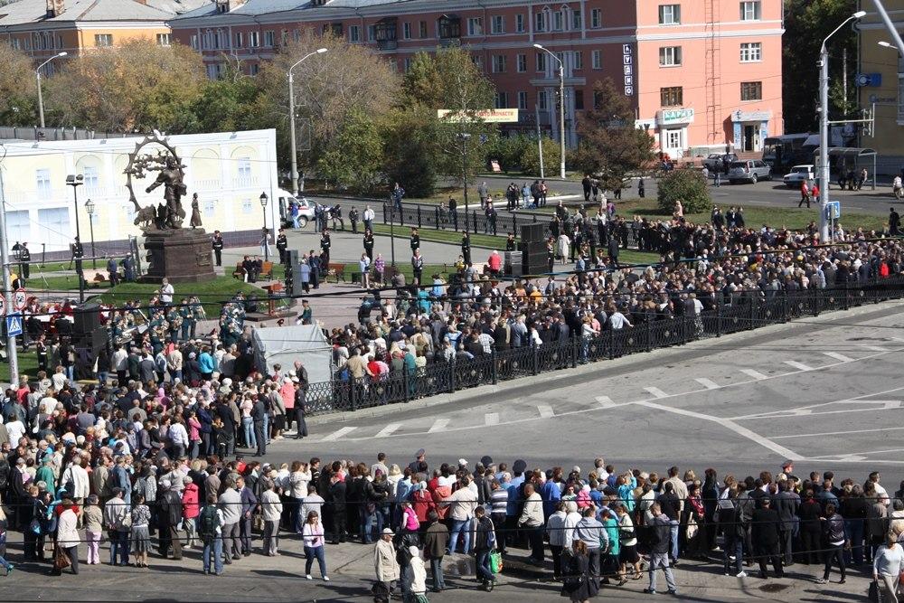 Открытие памятника Крестьянину