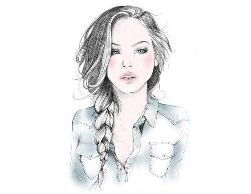 картинки девушки нарисованные:
