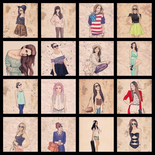 прикольные картинки для девочек 11 лет черно белые