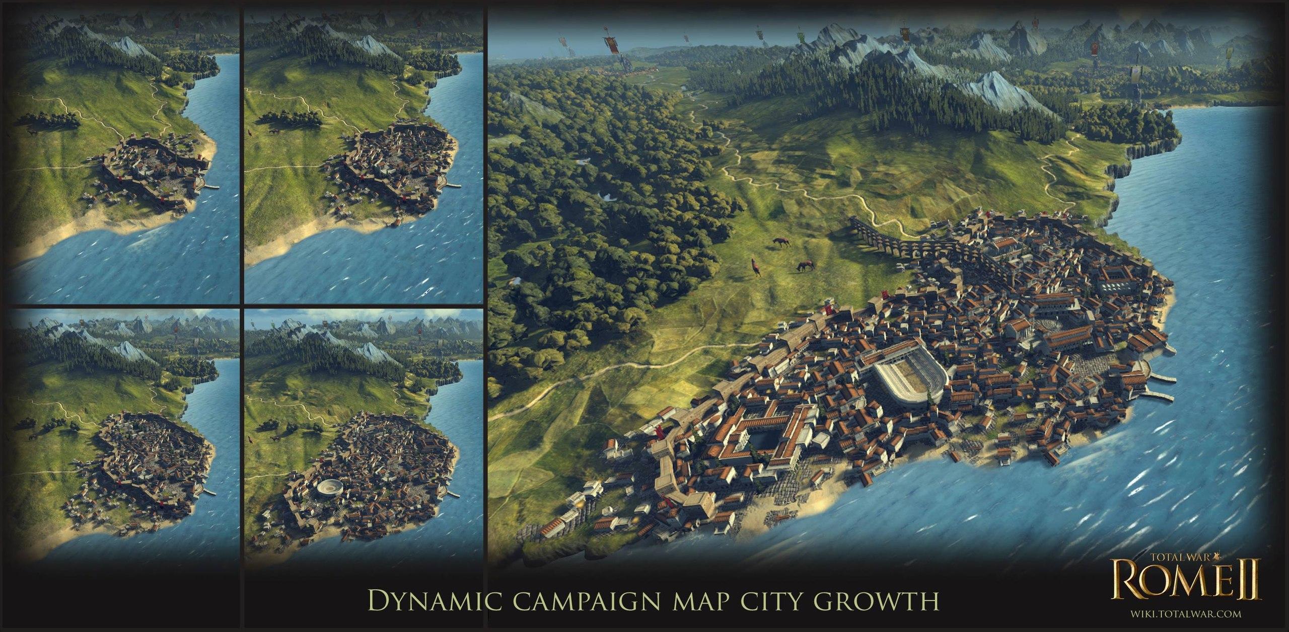 Total War: Rome 2 - про рост поселений
