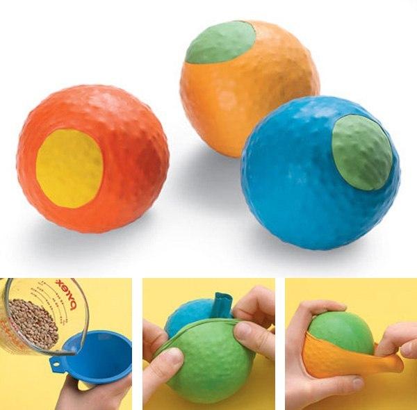 самодельные мячики из шариков
