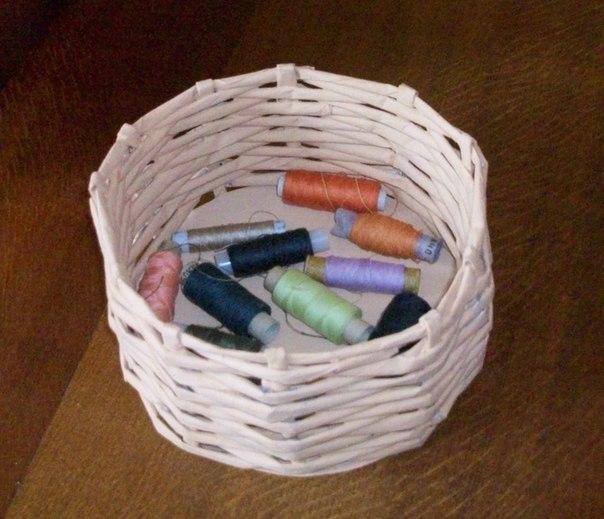 Плетеные корзины из бумаги